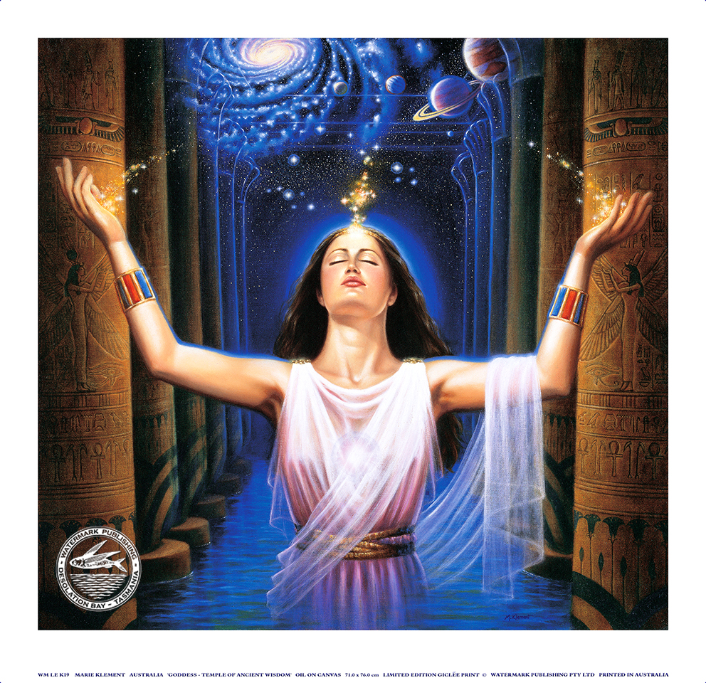 Goddess Temple Wisdom Greeting Card Art Room