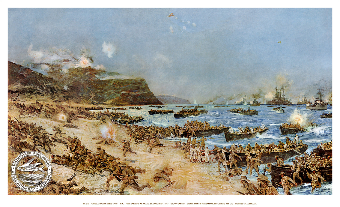THE LANDING AT ANZAC COVE