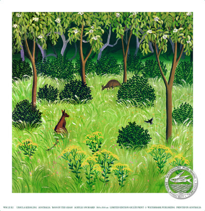 roos in the grass