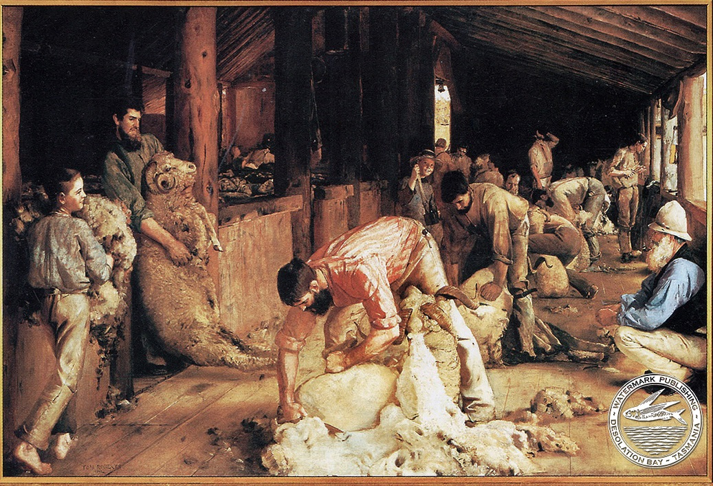 shearing the rams Offset Print