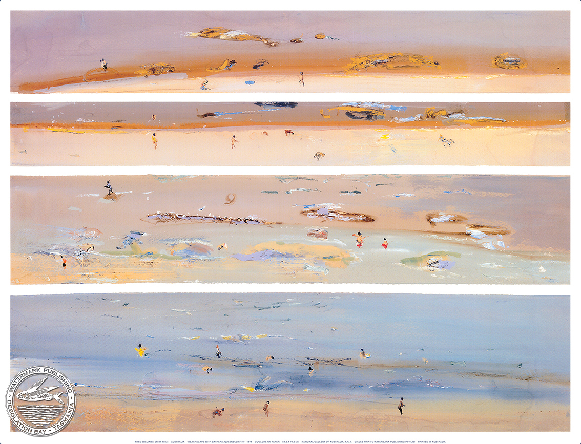 Beachscape With Bathers